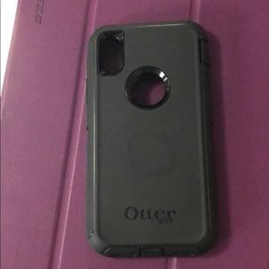 Black Otterbox Defender IPhone X case